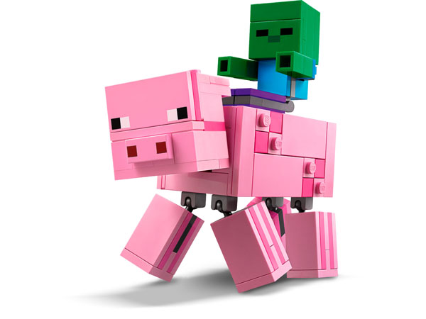LEGO Minecraft toy zombie riding pig