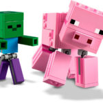 Pig with Baby Zombie - Minecraft LEGO 21157