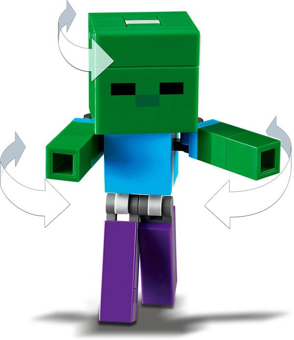 Lego Minecraft Baby Zombie Figure