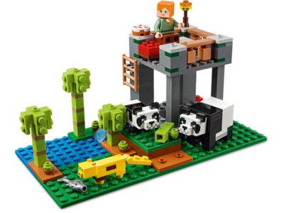 Cute LEGO Minecraft pandas