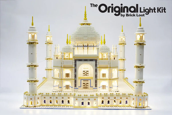 Add these LED LEGO Taj Mahal Lighting Kit to your 10256 model