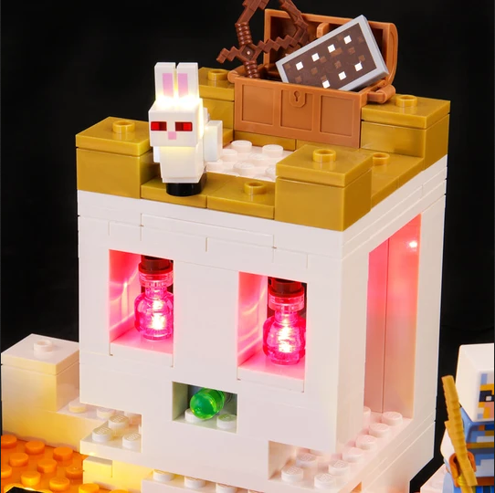 Light up your Minecraft Lego set
