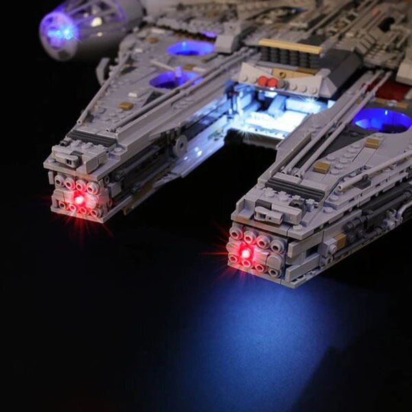 Details for LED Lego Lights for Ultimate Millennium Falcon