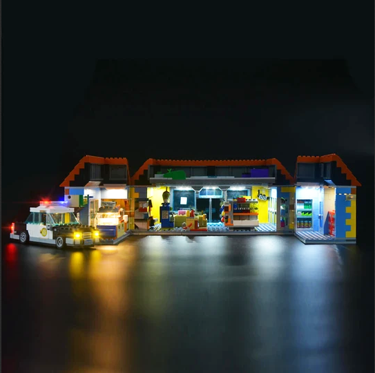 Add some light to your Lego Kwik-E-Mart 71016