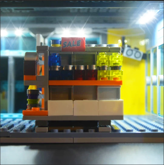 kit is designed specially for the LEGO Series Kwik-E-Mart 71016