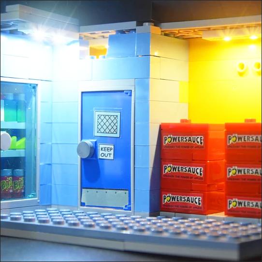 LED Lighting For the Lego 71016 Simpsons Kwik-E-Mart