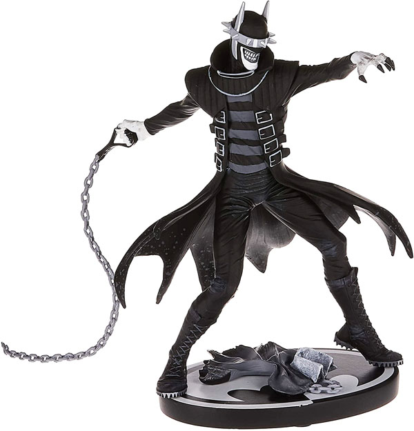 The Batman Who Laughs Black and White Statue inspired by Greg Capullo