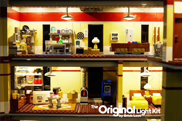 Ghostbusters Lego Firehouse Headquarters LED illumination