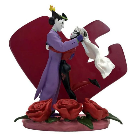 Batman Adventures Joker & Harley Quinn Wedding Cake Topper Style Statue
