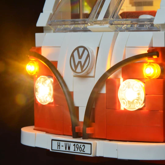 LEGO VW Camper T1 Lit up with LED Lights