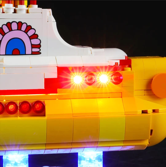 Lego Ideas Yellow Submarine 21306 with LED Lights