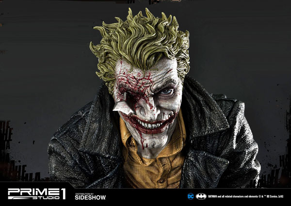 The Joker (Concept Design by Lee Bermejo) Statue - Damaged Face