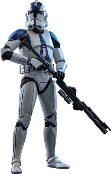 Star Wars: The Clone Wars: Hot Toys Action Figure: 501st Battalion Clone Trooper
