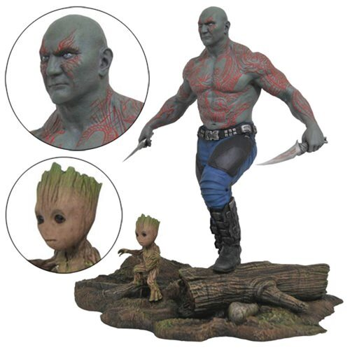 Marvel Gallery Drax and Baby Groot Statue Guardians of the Galaxy Vol. 2