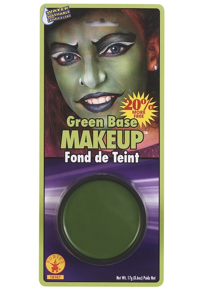 Gamora Cosplay Green Face Makeup