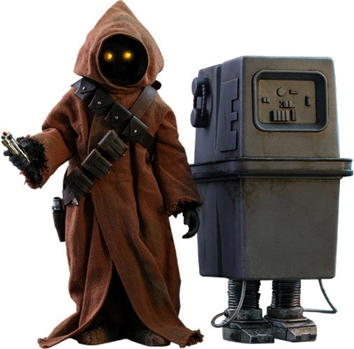 Jawa & EG-6 Power Droid Sixth Scale Figure Set by Hot Toys Star Wars Episode IV A New Hope - Movie Masterpiece Series