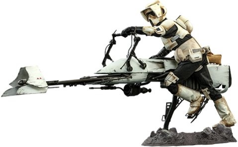 Scout Trooper and Speeder Bike - Sixth Scale Figure Set by Hot Toys The Mandalorian - Television Masterpiece Series