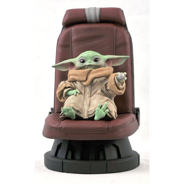 Gentle Giant Star Wars - The Mandalorian Child in Chair - 1:2 Scale Statue