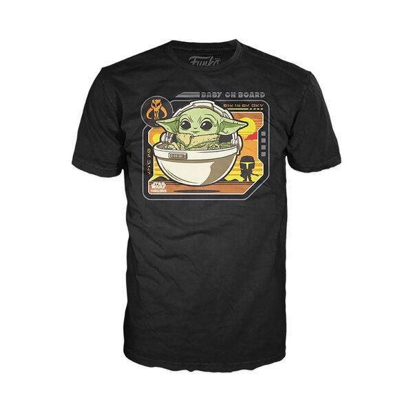 Star Wars The Mandalorian The Child Baby on Board Funko Pop! T-Shirt