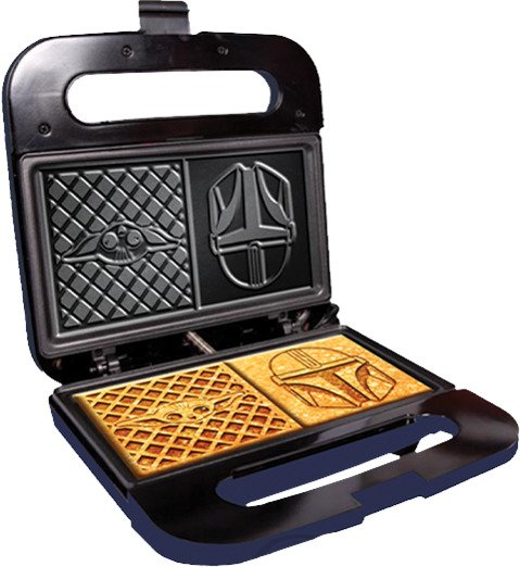 The Child and Mandalorian Dual Square Waffle Maker by Uncanny Brands