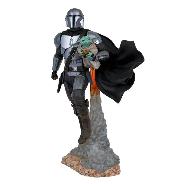 The Mandalorian & Child - Milestones Statue - Diamond Select Toys - Star Wars