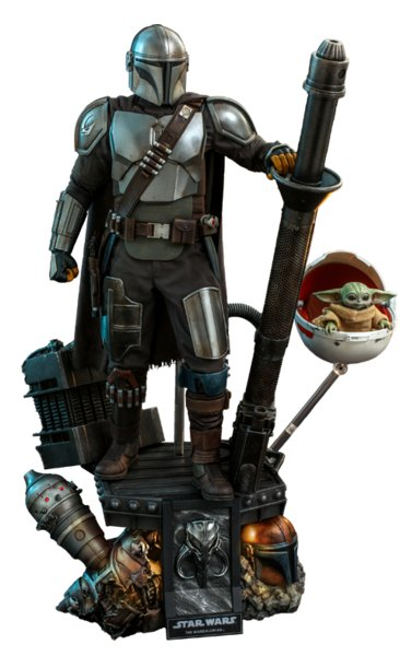 The Mandalorian and The Child - Quarter Scale Figure (Deluxe) - Collectible Set by Hot Toys