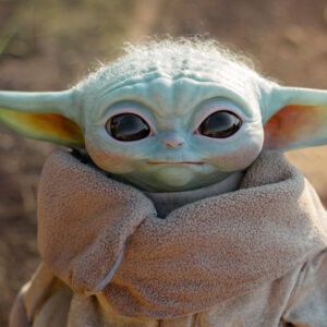 Star Wars Baby Yoda Life Size Figure close up 2