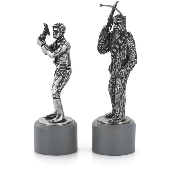 Royal Selangor Star Wars Pewter Chesspieces - Han Solo and Chewbacca (Bishop)