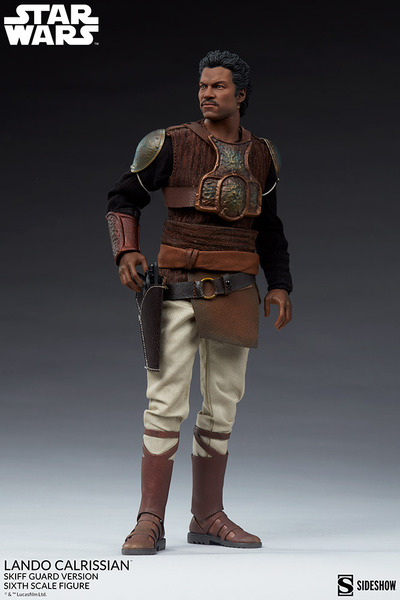 Lando Calrissian Skiff Guard Sixth Scale Figure with helmet off