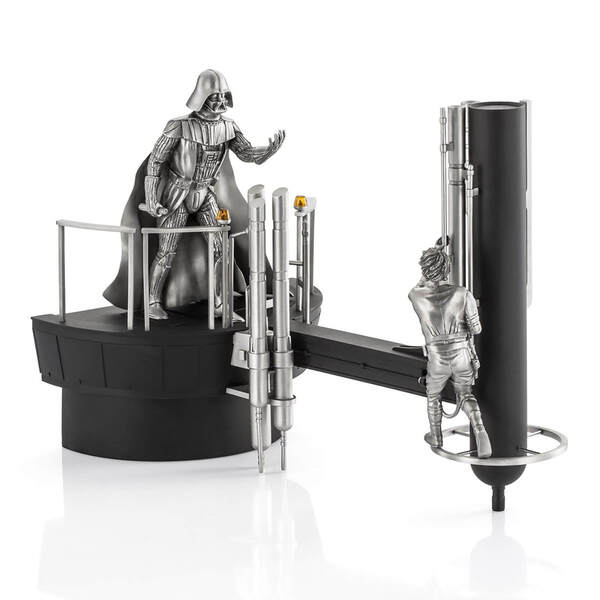 Royal Selangor Star Wars Luke vs. Darth Vader Limited Edition Pewter Diorama 33.5cm
