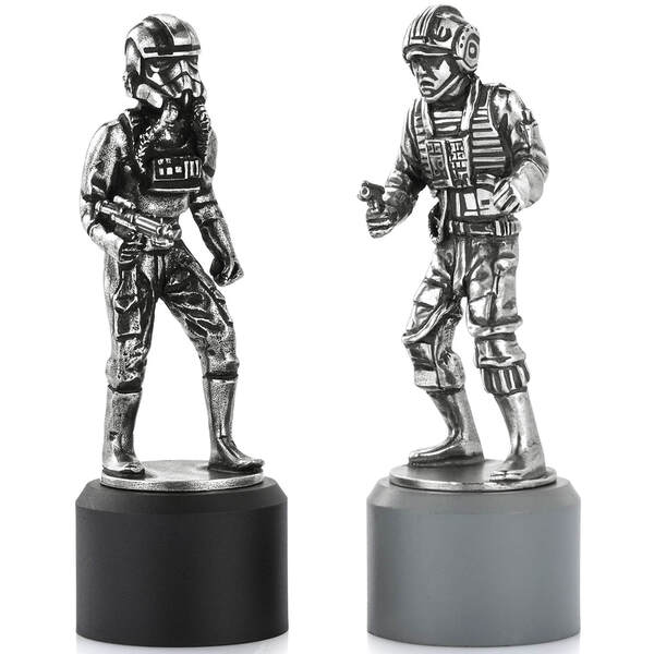 Royal Selangor Star Wars Pewter Chesspiece Rebel Pilot and Imperial Pilot (Rook)