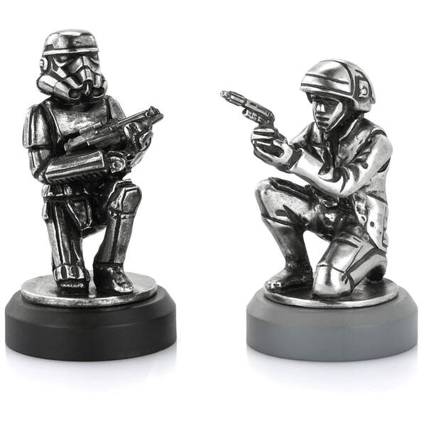 Royal Selangor Star Wars Chesspiece Rebel Trooper and Stormtrooper (Pawn)