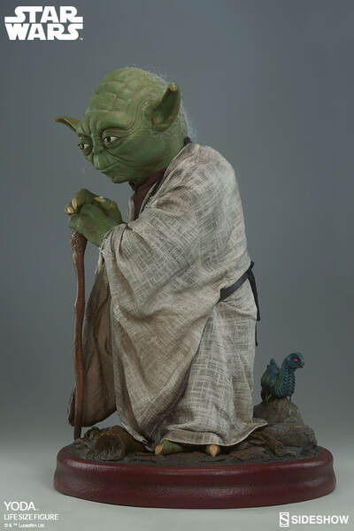 Yoda Life-Size Figure with Morp Critter