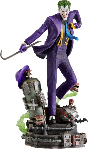DC Comics The Joker - Ace Chemical Transformation Factory - 1:10 Art Scale Statue by Iron Studios