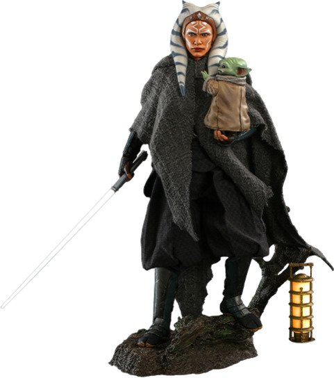 Ahsoka and Grogu Hot Toys Sixth Scale Figure The Mandalorian