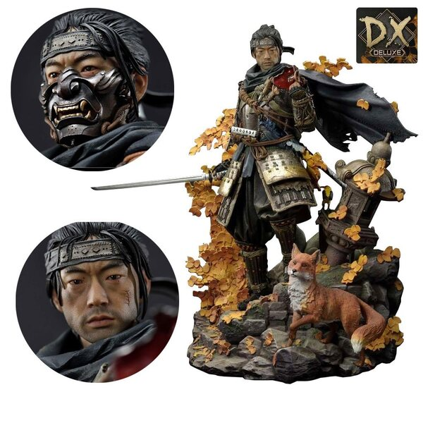 Ghost of Tsushima Jin Sakai Ghost Armor 1:4 Scale Statue Deluxe Edition