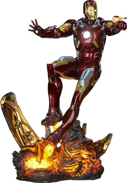 Marvel Polystone, Resin Iron Man Mark VII Maquette by Sideshow Collectibles Statue