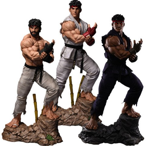 Top Geeky Collectables - Streetfighter Ryu Evolution Statue - 1:3 Scale Statue by PCS Set of 3