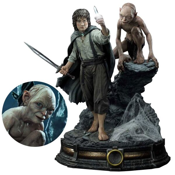The Lord of the Rings: Return of the King Frodo and Gollum Premium Masterline Statue by Prime 1 Studio