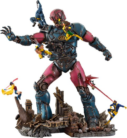 X-Men VS Sentinel 1:10 Scale Statue by Iron Studios - Marvel Comics Battle Diorama Series