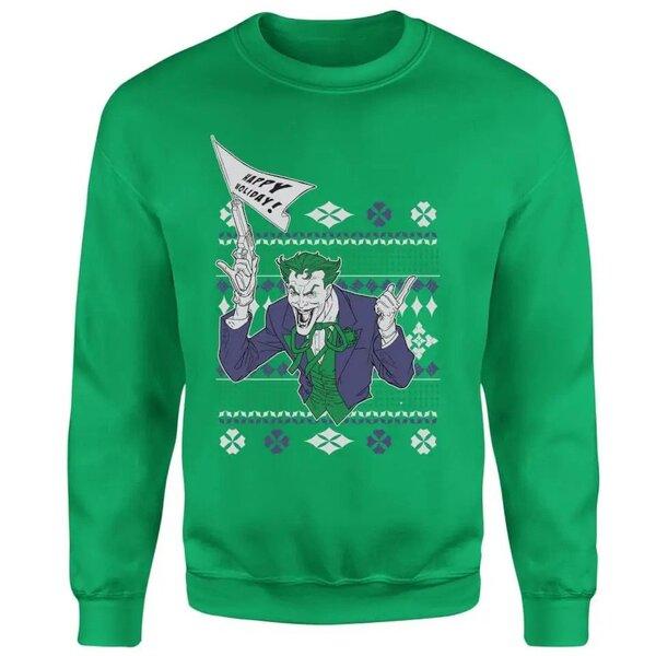 DC Comics Batman Happy Holiday The Joker Green Christmas Sweater
