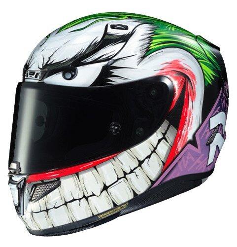 DC Comics The Joker Motorcycle Helmet by HJC Helmets Modular Helmet