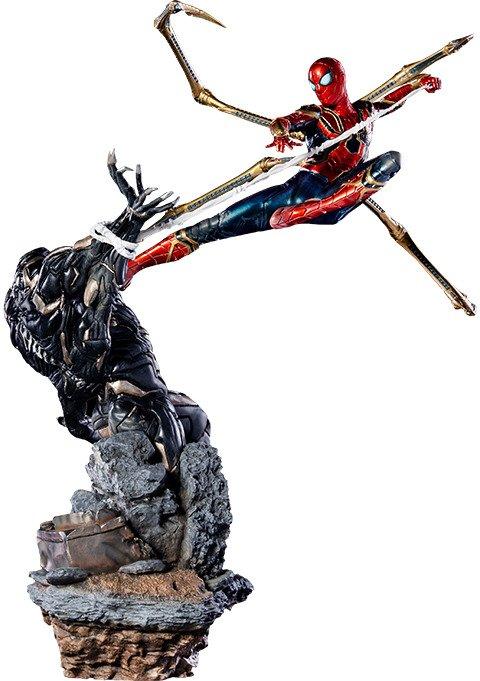 Iron Spider VS Outrider Statue by Iron Studios - Avengers: Endgame Battle Diorama Series