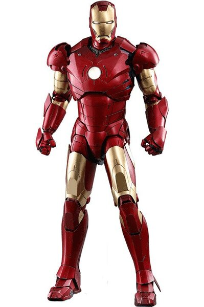 Iron Man Mark III - Quarter Scale Figure by Hot Toys - Deluxe Version