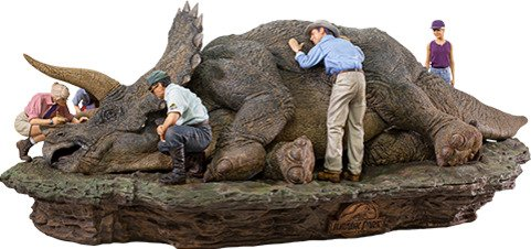 Jurassic Park Triceratops 1:10 Scale Statue by Iron Studios