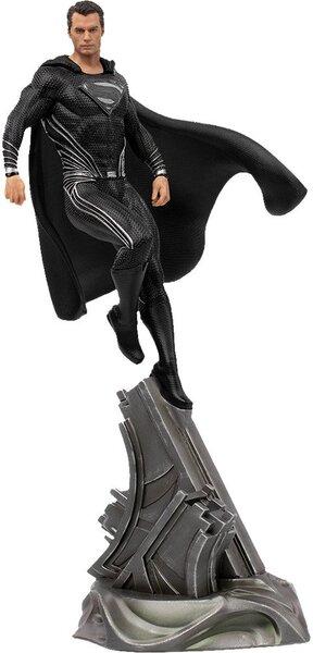 Justice League Superman Black Suit Statue by Iron Studios