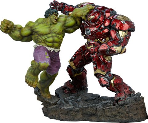 Polystone Hulk vs Hulkbuster Maquette by Sideshow Collectibles