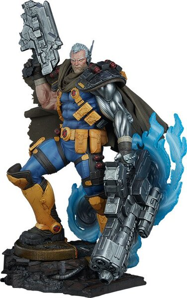 Fabric, Polyresin Marvel X-Men Cable Premium Format Figure by Sideshow Collectibles
