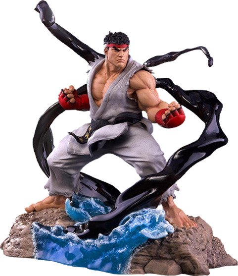 Street Fighter V - Ryu V-Trigger Collectible Set of 3 Ryu 1:6 Scale Statues by PCS