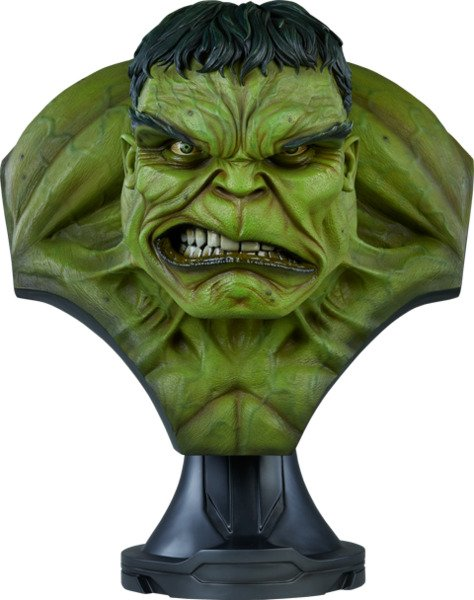 Fiberglass The Incredible Hulk Life-Size Bust by Sideshow Collectibles
